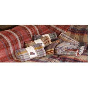 manta de viaje y picnic de lana reciclada británica
