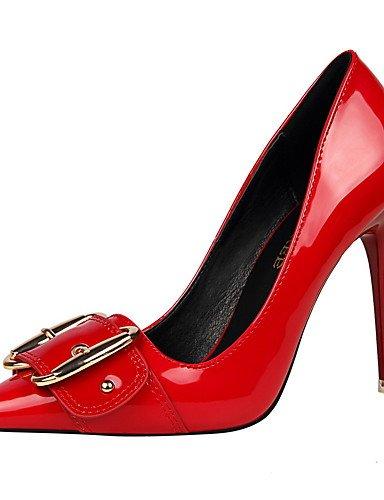 GS~LY Damen-High Heels-Kleid-Kunstleder-Stöckelabsatz-Absätze / Spitzschuh / Geschlossene Zehe-Schwarz / Lila / Rot / Weiß / Silber / Grau / purple-us6 / eu36 / uk4 / cn36