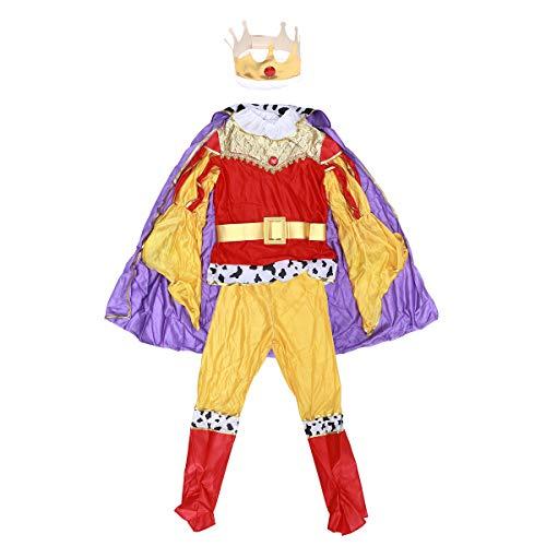 BESTOYARD Kinder Halloween Party Cosplay Leistung Kostüme Boy King Prince Kleidung Größe XL (Prince Boys Kostüme)