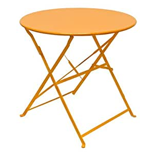 Eyepower 14670 Table de jardin pliable en métal Orange