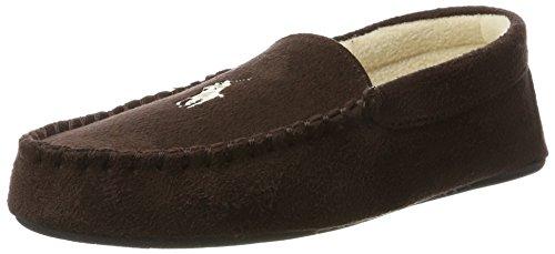 Microsuede Schuhe (Ralph Lauren Herren Men's Dezi II Niedrige Hausschuhe, Braun (Chocolate Microsuede W/Cream PP), 44 EU)