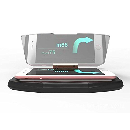 EarthSafe Heads Up Display, HUD coche del GPS del teléfono móvil Imagen de la navegación Reflector teléfono celular titular de soporte Soportes de navegación