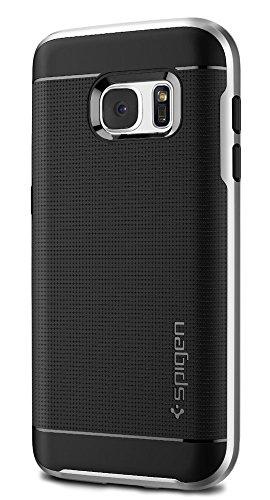 Funda Galaxy S7, SPIGEN® [Neo Hybrid] Protección interna flexible y marco reforzado de parachoques duro para Samsung Galaxy S7 2016 - Plata
