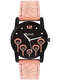 Relish Analog Black Dial Watches for Girls & Women RE-L089PB