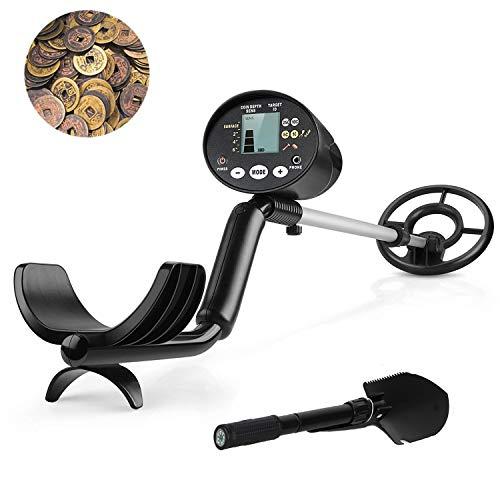 Intey detector de metales, longitud y 4sensibilidad regulables, 2modos de detección, pantalla LCD...