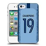 Head Case Designs Officiel Manchester City Man City FC Kit Maison 2019 Champions Étui Coque en Gel Molle pour iPhone 4 / iPhone 4S