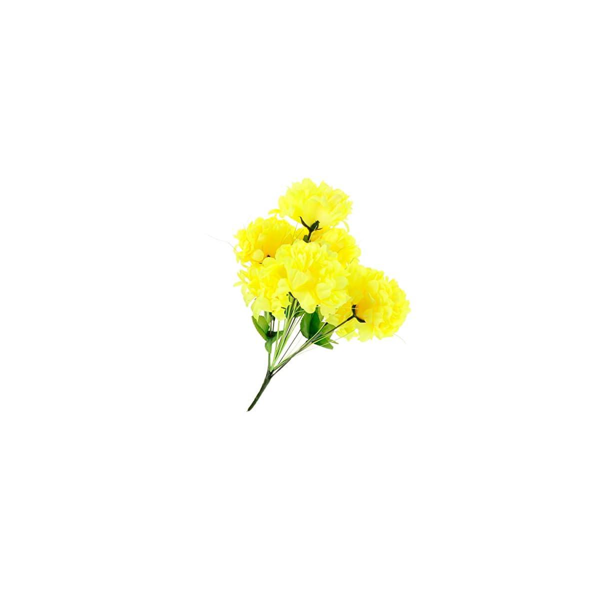 410YeyempSL. SS1200  - Fenteer Artificial Crisantemo Ramo Cementerio Tumba Flores Ramo Funeral Decoración