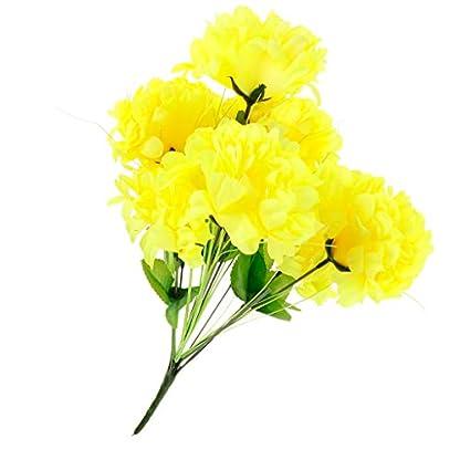 Artificial Crisantemo Ramo Cementerio Tumba Flores Ramo Funeral Decoración – Amarillo