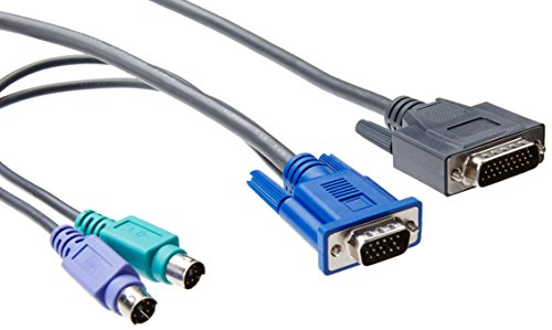 HP PS2 Server Console Câble clavier/vidéo / souris (KVM) PS/2 6 broches/HD-15 (M) 1.8 m (pack de 2) pour ProLiant DL370 G6/DL585 G6/ML110 G6/ML110 G7/ML150 G6/ML330 G6/ML350 G6/Rack