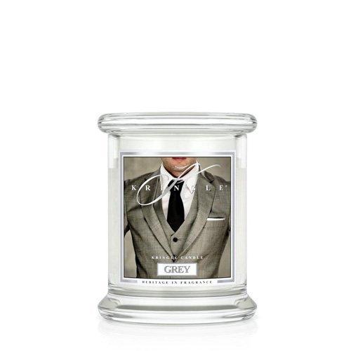 Kringle® Duftkerze - Grey - Raumduft, Duft, Kerze im Glas, Stumpenkerze, Housewarmer, Aroma, Aromakerze