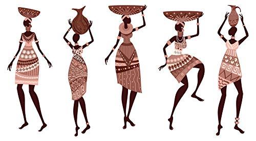 Wandtattoo Afrika Frauen im landestypischen Gewand Wandsticker Deko Figur