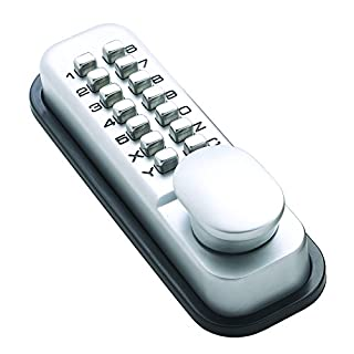 Briton 9160 Push Button Mechanical Digital Lock c/w HO Option (SV and PB Finishes), Silver