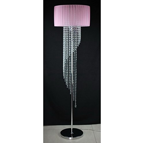 WEBO HOME- Kreatives Schlafzimmer Wohnzimmer romantische Studie moderne LED Europäische Bett K9 Kristall Stehleuchten -Stehlampe ( Farbe :...