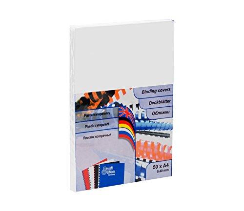 ProfiOffice® Deckblätter, DIN A4, Reliefstruktur, klar-transparent, 0,40mm, 50 Stück (59040)
