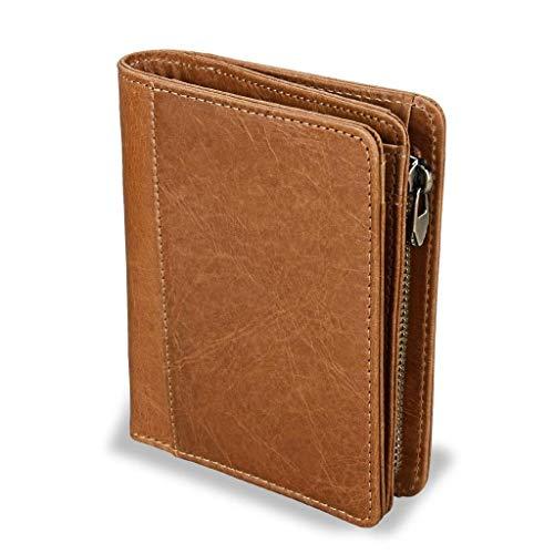 ZLACA Brieftasche for Herren-Echtes Leder Blocking Bifold Stylish Wallet -