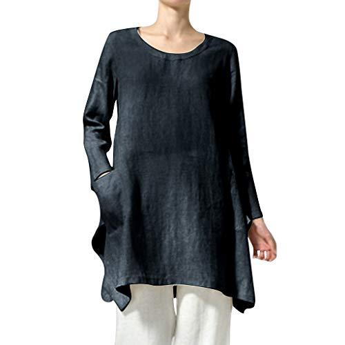 Cap Sleeve Shirt Öse (Clacce Bluse T-Shirt Pullover Tops Herbst Frühling Elegante Damen Frauen Stehkragen Langarm Täglichen Party Urlaub Lose Tunika Tops T-Shirt Bluse)