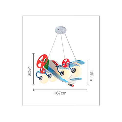 Kronleuchter zu Hause personalisierte Kronleuchte Aircraft Kronleuchter Led Creative Kinderzimmer Lichter Junge Mädchen Schlafzimmer Moderne niedliche Lampen - 6