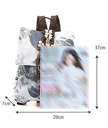 YAANCUN Damen Personalisiert Rucksack Frauen Rucksäcke Freizeitrucksack Tasche Daypacks Klein Reisetasche Beige
