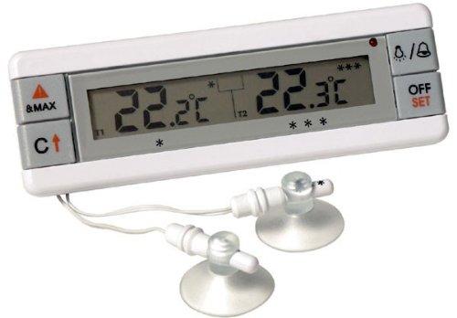 Réfrigérateur et congélateur alarme thermomètre avec sondes doubles - affichage de température de 2 appareils