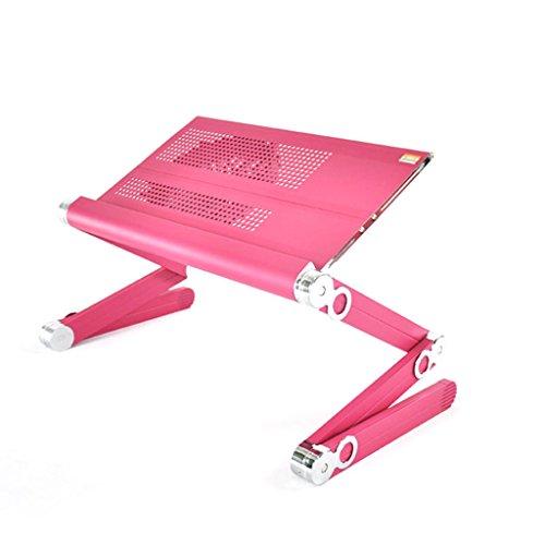 shuang Einstellbarer faltbarer Laptop-Standplatz, schwarzer Aluminiumlegierungs-Schreibtisch-Tabellen-beweglicher mehrfacher...