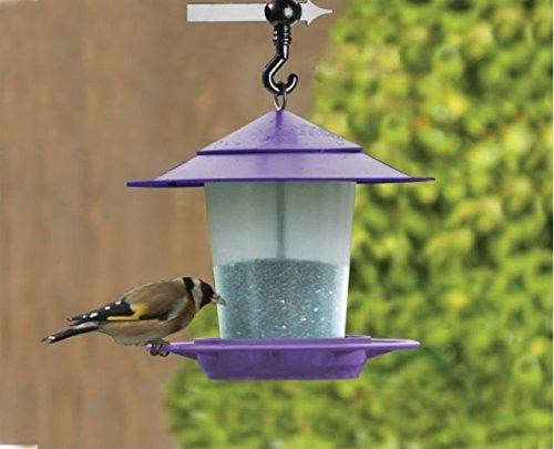 Girlande Laterne für Vögel und Nussfutter, Violett -