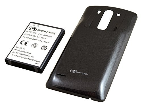 Mugen Power Extended 3600mAh Battery for LG G3 S / LG G3 Beat / LG G3 Vigor. Enjoy 40% More Power!