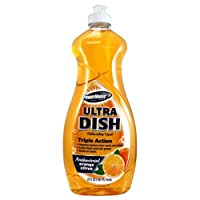 A USA Made Product PowerHouse® Ultra Dish Dishwashing Liquid, AntiBacterial Orange Citrus, 740mL (4)