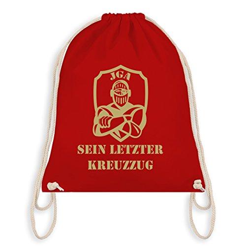 JGA Junggesellenabschied - Sein letzter Kreuzzug - Turnbeutel I Gym Bag Rot