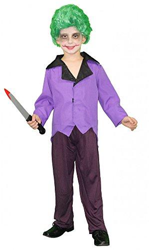 Foxxeo 40241 I Kinderkostüm mit Perücke Schurke Bösewicht Comic Held Erzfeind Kostüm für Kinder Kostüm Halloween Horror Film Fernsehen Gangster , Größe:158/164