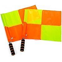 Laat - Bandierina per arbitro di calcio, guardalinee, giudice di gara, bandiera di segnalazione, 2 pezzi