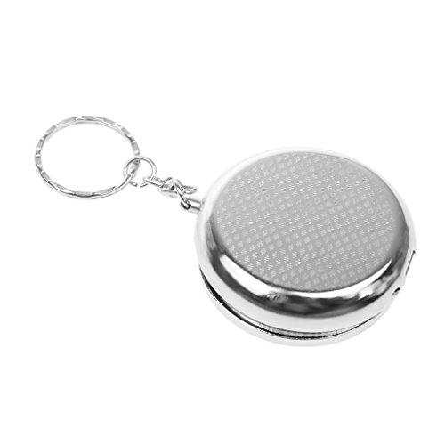 MagiDeal Aschenbecher für die Tasche als Schlüsselanhänger Reise Unterwegs Aschenbecher (Als Schlüsselanhänger Aschenbecher)