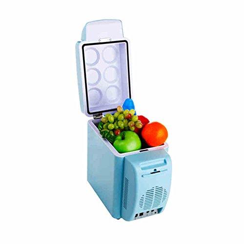 (SL&BX Auto kühlschrank stumm,7l kühlschrank zuhause mini studentenwohnheim brust milch kältetechnik 24v mini-kühlschrank gefrierfach kühler kühlschrank-Blau 30.3x17x31cm(12x7x12inch))