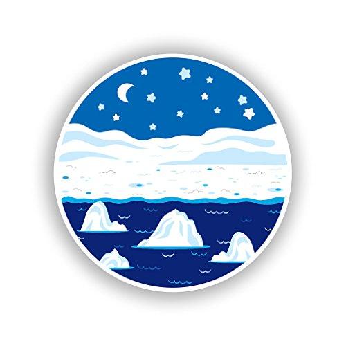 2x 20cm/Verlaufsfilter North Pole vinyl Aufkleber Reise Gepäck # 10716 -