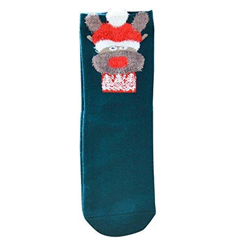 (Sunnyadrain Socken Herren & Damen Baumwolle Unisex Tierische Weihnachts Baumwolle lässige weiche)