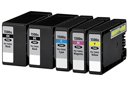 5-1-set-1-black-compatible-pgi-1500xl-ink-cartridges-for-canon-maxify-mb2000-mb2050-mb2300-mb2350-bl