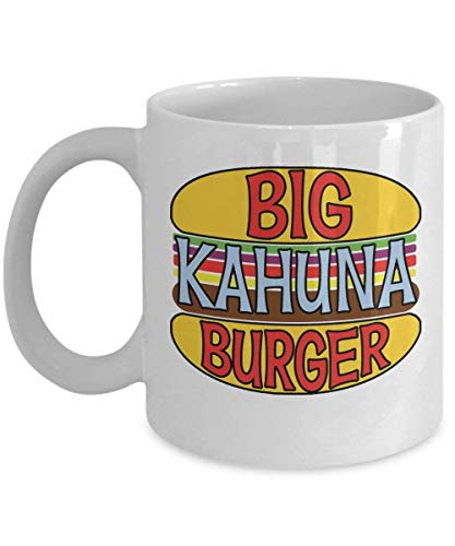 Big Kahuna Burger Coffee Mug Cup (White) 11oz Quentin Tarantino Pulp Fiction Reservoir Dogs Gift Merchandise Accessories Pin Decal Sticker Shirt - Big - Oma Golf Shirt