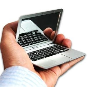 MacBook Air design portable pocket mini make up cosmetic mirror Silver produced by TGO - quick delivery from UK.