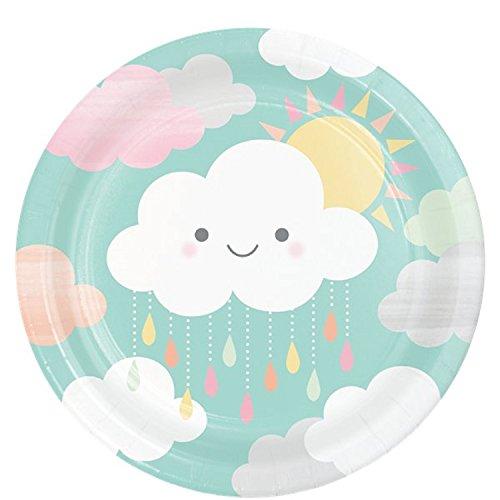 Fancy Me Süße Pastell Sonnenschein Wolken Sterne Baby Shower Mum Party Feier Dekorationen Papier Geschirr Zubehör (Platten)