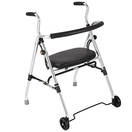 Deluxe Falt rollator, leichte Mobilitätshilfen mit gepolstertem Seat und Untersitz-Korb für einfache Lagerung
