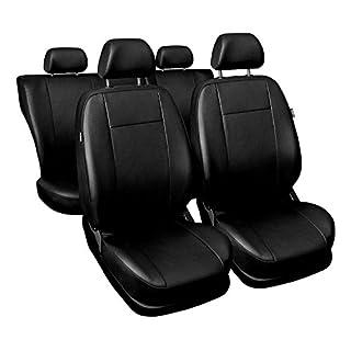 Universal Schwarz Kunsleder Sitzbezüge Komplettset Sitzbezug für Auto Sitzschoner Set Schonbezüge Autositz Autositzbezüge Sitzauflagen Sitzschutz Comfort