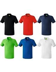 Erima Herren Poloshirt Bristol Schwarz Rot Blau Grün Weiss