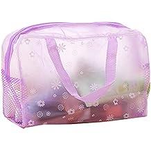 wdoit 1pcs de la mujer viaje cosméticos bolsa impermeable PVC claro lavado baño bolsa de almacenamiento color opcional, plástico, Morado, 24*9*15CM