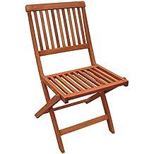 Sedie Da Giardino In Legno Usate.Amazon It Sedie In Legno Da Esterno