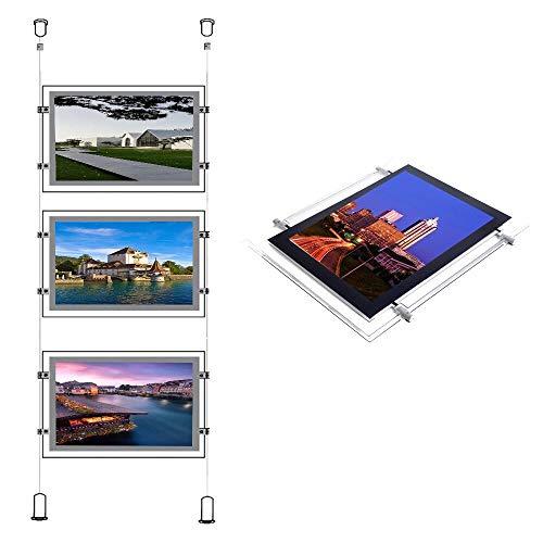 A3(Querformat) Immobilien Büro Fenster Aufhängen Acryl Poster Rahmen Kristall LED Light Box Sign Display Halter -