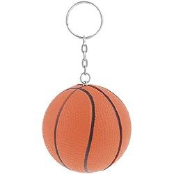 Llavero con cadena anillos de división naranja decoración forma baloncesto atractivo