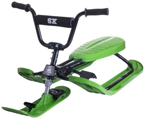 STIGA Schlitten Snow Racer SX Pro Color Skiboblenkschlitten, Grün One Size