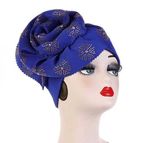 Dicomi Damen Muslimisches Kopftuch Lässig Mode Volltonfarbe Elastisches Frauen Make-up Kappe Schal Kopftuch Hut ()