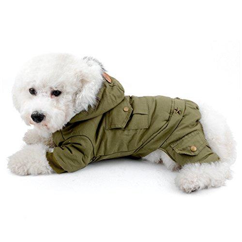 ranphy klein Hund Katze Kalten Wetter Fell Vier Beine Fleece gefüttert Hund Jumpsuit Chihuahua Outfits Winter Yorkie Apparel Hoodie (Muster Kostüm Spiderman)