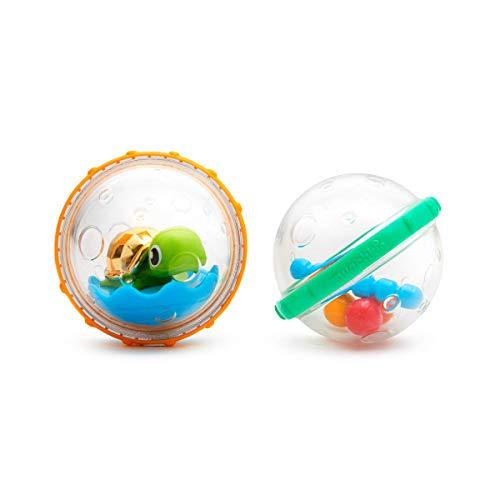 Munchkin - Schwimmende Seifenblasen Badespielzeug, 2er-Pack, Modell Sortiert