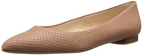 Nine West Onlee Leather Ballet Flat Natural Leather